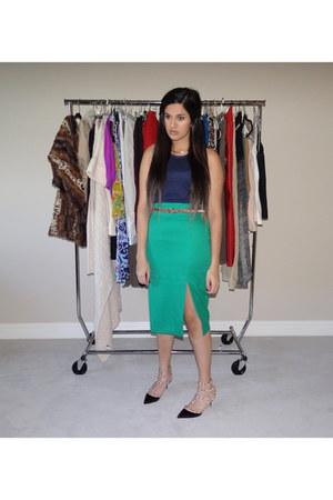 asos shirt - asos skirt - Valentino heels