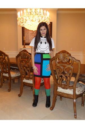 Karmaloop shirt - asos socks - Forever 21 skirt - Filthy Magic necklace