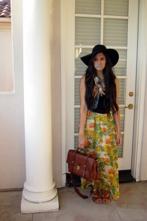 American Apparel hat - oryany bag - material girl top - asos skirt - bandeau mat