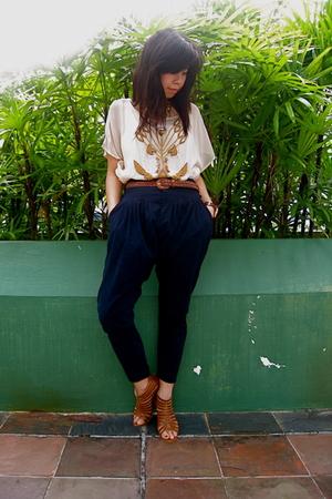 Miss Selfridges top - random from Bangkok belt - random from Bangkok pants - ran