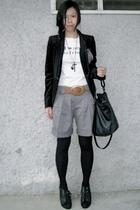 black Zara blazer - white random from Bangkok t-shirt - Topshop pants - black To