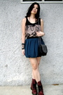 Black-random-from-bangkok-top-green-forever21-skirt-red-doc-martens-shoes-
