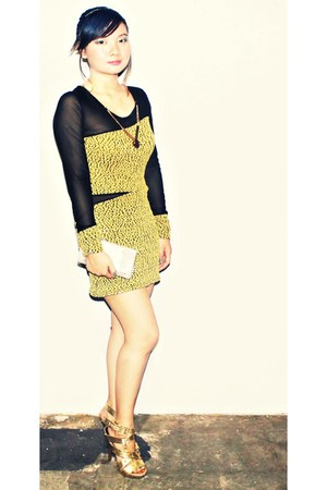 lacespandex I Love Coco dress - beads DIY bag - gold Elegance heels