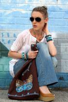 turquoise blue Asos Forever21 Apt 9 bracelet - blue MNX Deep Instinct jeans