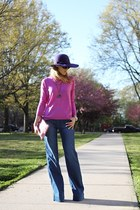 Forever 21 hat - blank nyc jeans - Gap sweater - 7eye sunglasses