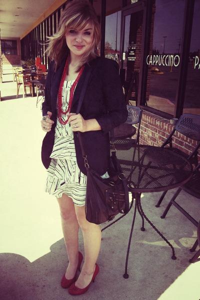 Forever 21 blazer - Bella Rose Boutique dress - Charlotte Russe purse