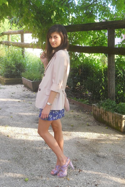 amethyst Blocco 31 shoes - violet Zara dress - light pink With Love blazer