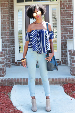 Lucky Brand boots - H&M jeans - zaful top