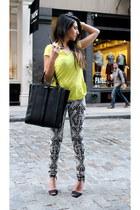 Zara bag - H&M jeans - Zara t-shirt - Zara heels