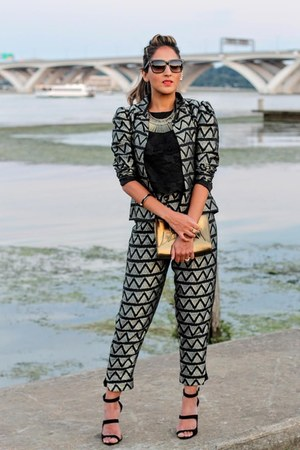 black silk Haute Heritage suit