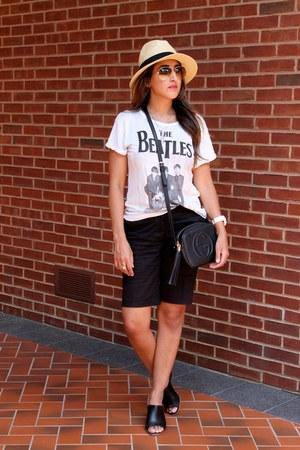 black Gucci purse - black H&M shorts
