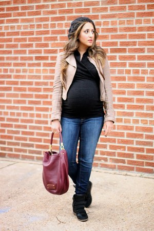black Pink Blush Maternity sweater - blue A Pea in the Pod jeans