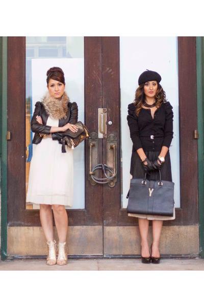 H&M hat - Zara boots - BCBG dress - JCrew scarf - Michael Kors watch