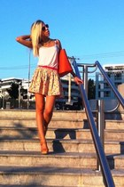 floral Topshop skirt - orange Michael Kors bag - orange Michael Kors sunglasses