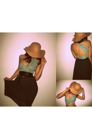 Bershka hat - DIY dress - DIY belt