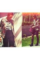 Steve Madden boots - Zara blazer - Levis shirt - American Apparel shorts