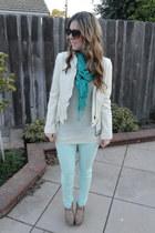 light blue skinny Express jeans