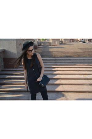 black Zara hat - black Michael Kors bag - gray H&M top