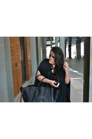 black Zara leggings - silver Zara shoes - black Celine bag