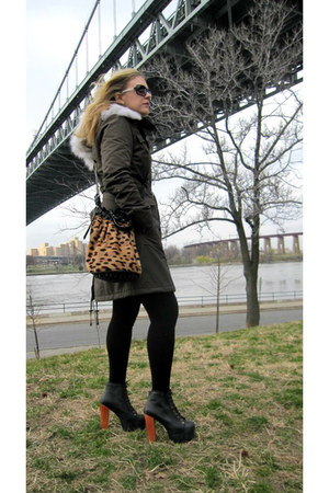 Alexander Wang bag - Jeffrey Campbell boots - Dawn Levy coat