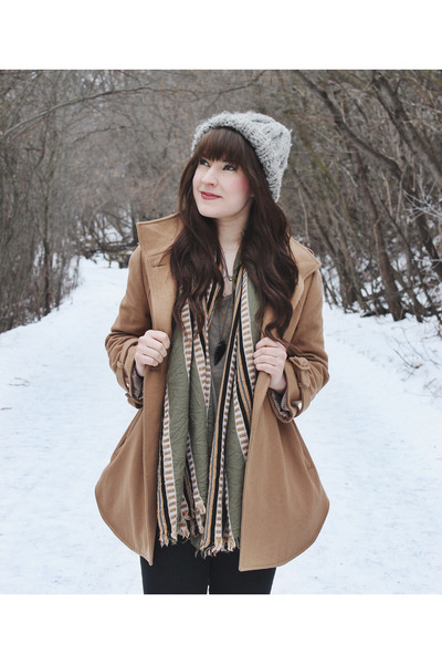 olive green blanket scarf wilfred scarf - brown ankle boots Steve Madden boots