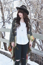 Brown-ankle-boots-steve-madden-boots-dark-green-ripped-just-black-jeans