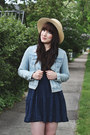 Navy-lace-dress-others-follow-dress-off-white-boater-forever-21-hat