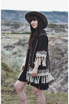 black cardigan Forever 21 cardigan - black basic Billabong dress