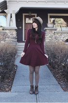 skater American Apparel dress - lace up Hibou boots