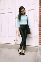 Forever 21 sweater - American Apparel pants - Zara loafers