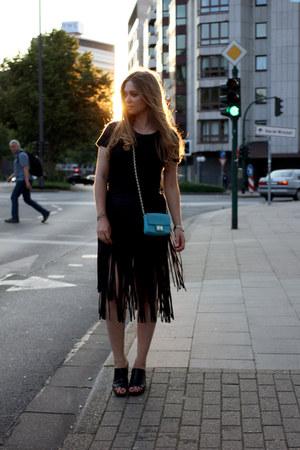 Zara shirt - Juicy Couture bag - Zara skirt - vagabond wedges