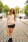 Black-topshop-boots-beige-zara-sweater-nude-prada-bag