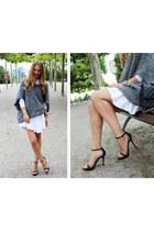 Zara sweater - H&M Trend dress - Chanel bag - Zara sandals