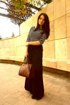 Bershka boots - Zara shirt - pull&bear bag - Bershka skirt