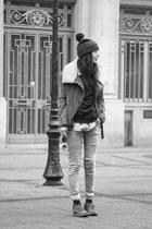Gstar hat - Clarks shoes - By Zoe jacket - Zara blouse - SANDRO bodysuit