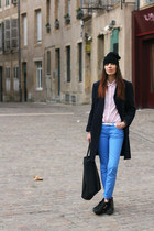 Ekyog jeans - Underground shoes - Maje purse - H&M socks - Ekyog blouse