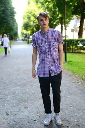 second hand shirt - Cheap Monday pants - Converse sneakers