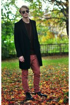 brothers coat - American Eagle sweater - Topman pants