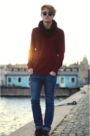 H&M shoes - Cheap Monday jeans - American Eagle sweater - Ray Ban sunglasses