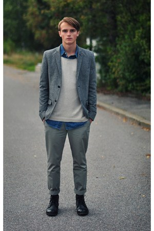 Topman sweater - Din Sko shoes - Topman blazer - Ralph Lauren shirt