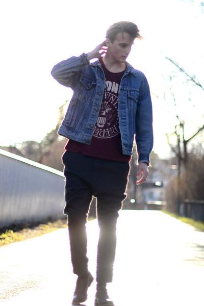 H&M t-shirt - Levis jacket - H&M pants