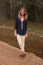 Navy-tj-maxx-blouse-white-levis-jeans