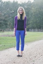 blue Gap pants - purple Express sweater - black Gap t-shirt