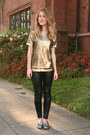 Gold-merci-beaucoup-sweater-black-zara-leggings-silver-dv-dolce-vita-loafers