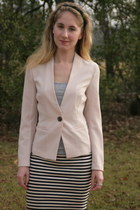 black madewell skirt - light pink Posh Boutique blazer
