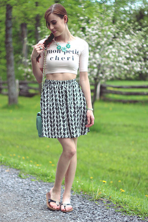 light blue Forever 21 bag - black Target skirt - light pink H&M top