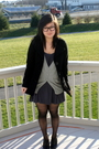 Black-h-m-shoes-gray-forever21-dress-silver-forever21-sweater-black-foreve