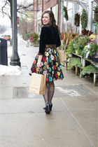 vintage Chanel bag - eShakti dress - black patent stuart weitzman heels