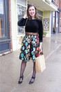 Eshakti-dress-vintage-chanel-bag-black-patent-stuart-weitzman-heels