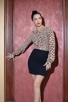 thrifted vintage blouse - Forever 21 skirt